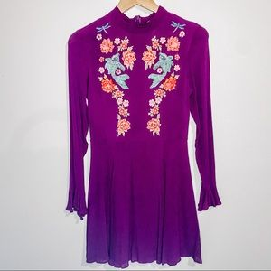ASOS Maroon embroidered dress!